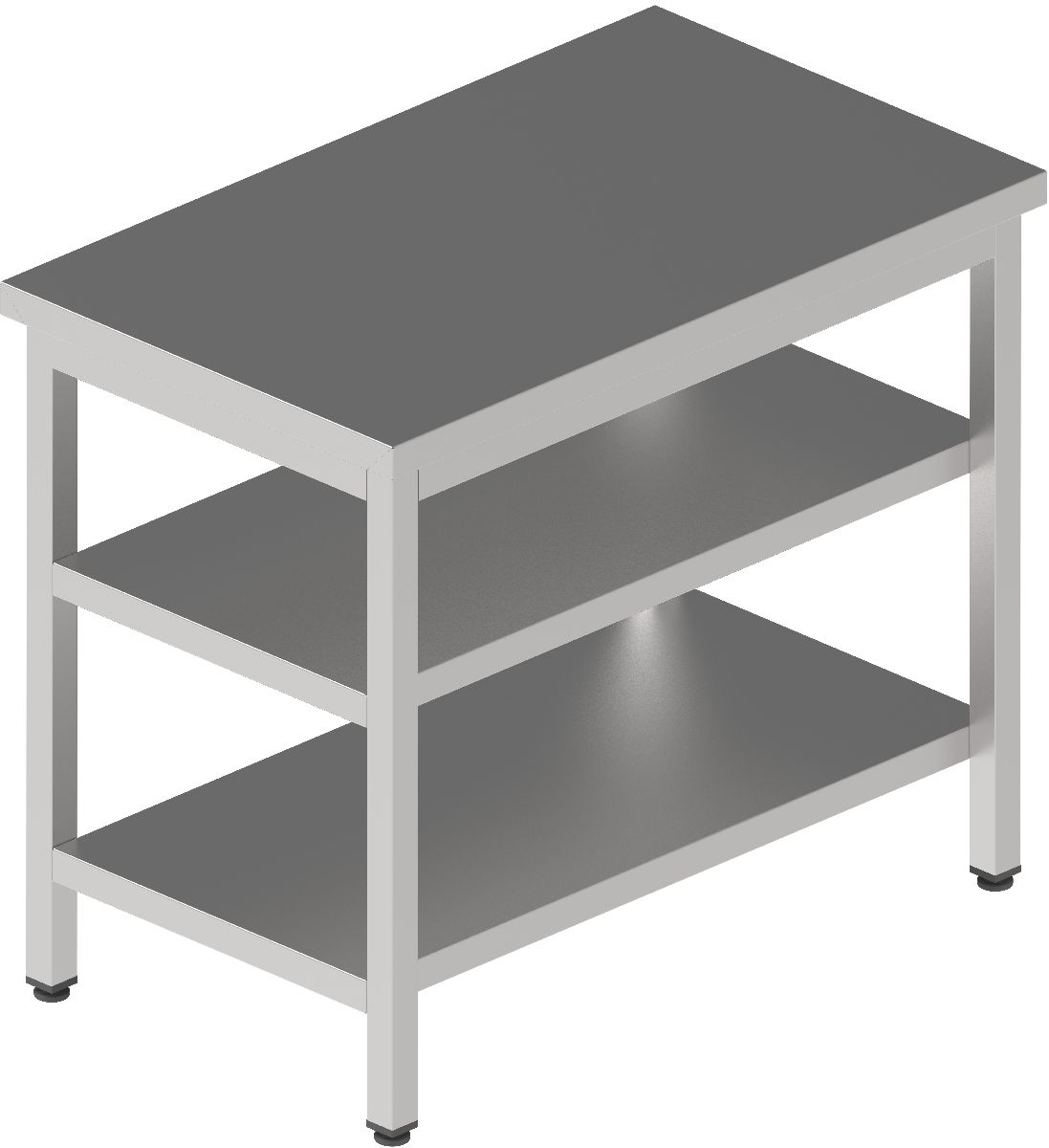 Kitchen Worktable - 2 Shelf